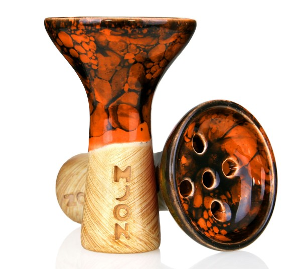 Moon Killer Bowl Marble Orange Black