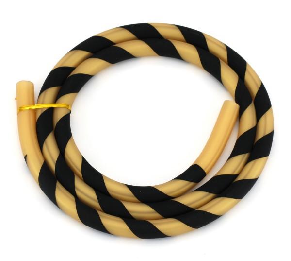 Silikonschlauch Striped Schwarz/Gold