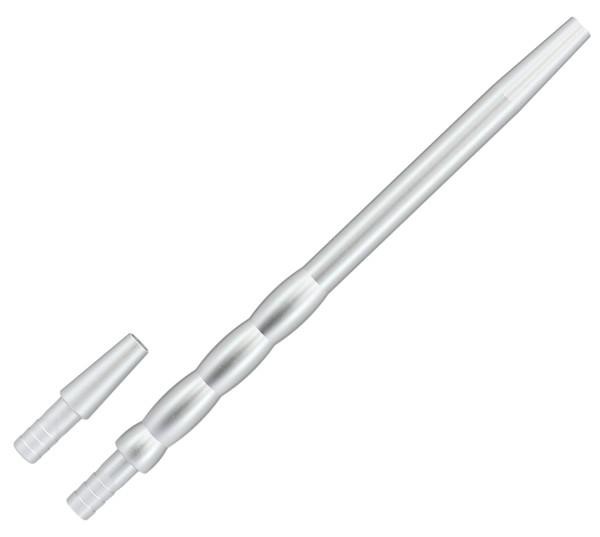 Aluminium Shisha Mundstück Wave Silber