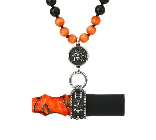 Japona Hookah Samurai Beads Mouth Tip Orange
