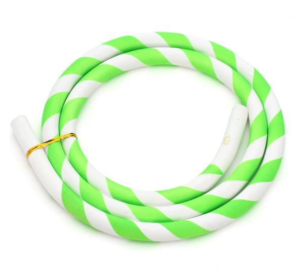Silikonschlauch Striped Grün/Weiß