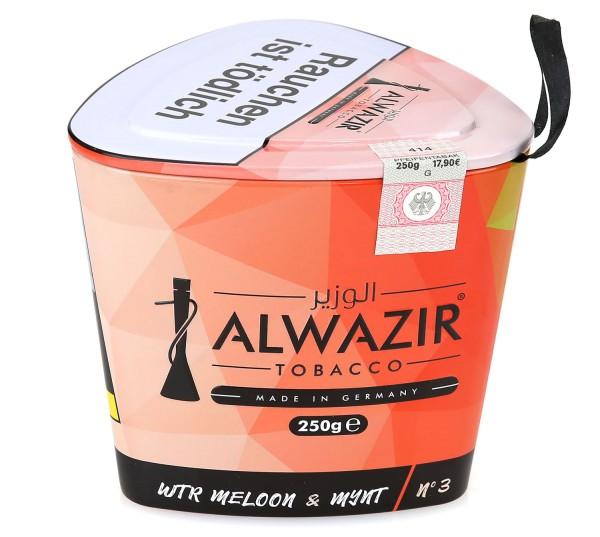 Alwazir No. 3 Wtr Meloon & Mynt Shisha Tabak 250g