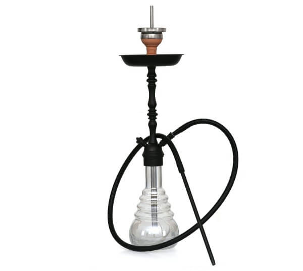 4-Kings Shisha Arabic Matt Black Shining Fragment Klick mit Kaminaufsatz