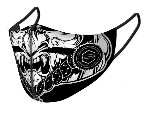 Japona Hookah Mask Black&White Samurai