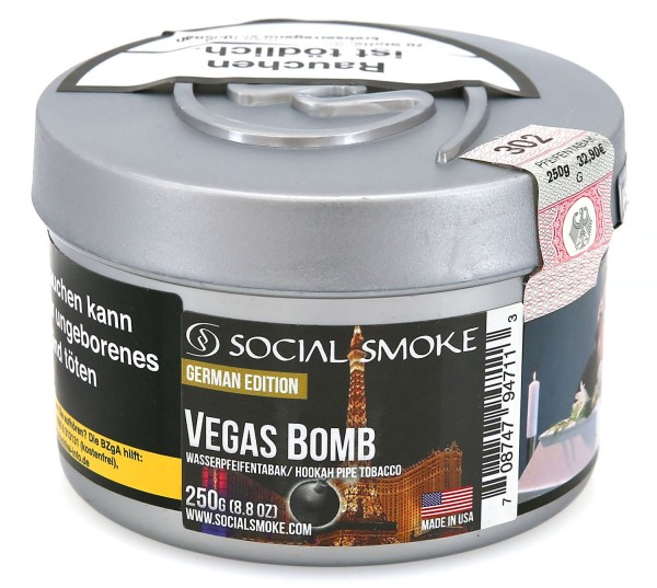 Social Smoke Vegas Bomb Shisha Tabak 250g