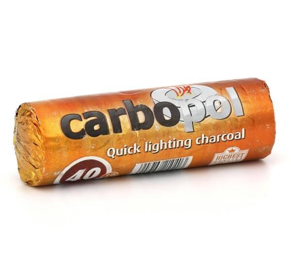 Carbopol Kohle selbstzündend - 40 mm 10 Stück