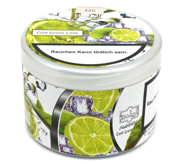 Al Waha Cold Green L-im (Cold Green Lime) Shisha Tabak 200g