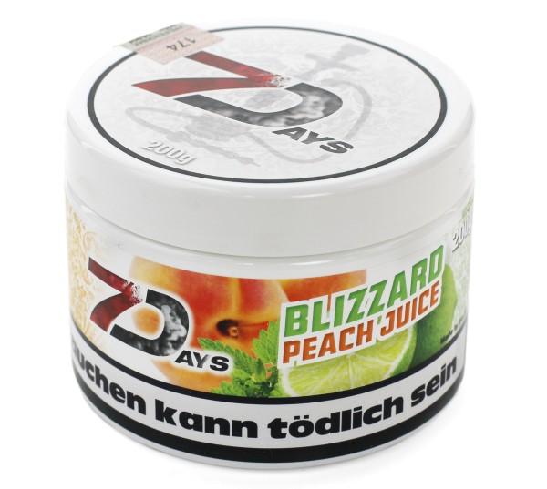 7Days Blizzard Peah (Blizzard Peach Juice) Shisha Tabak 200g