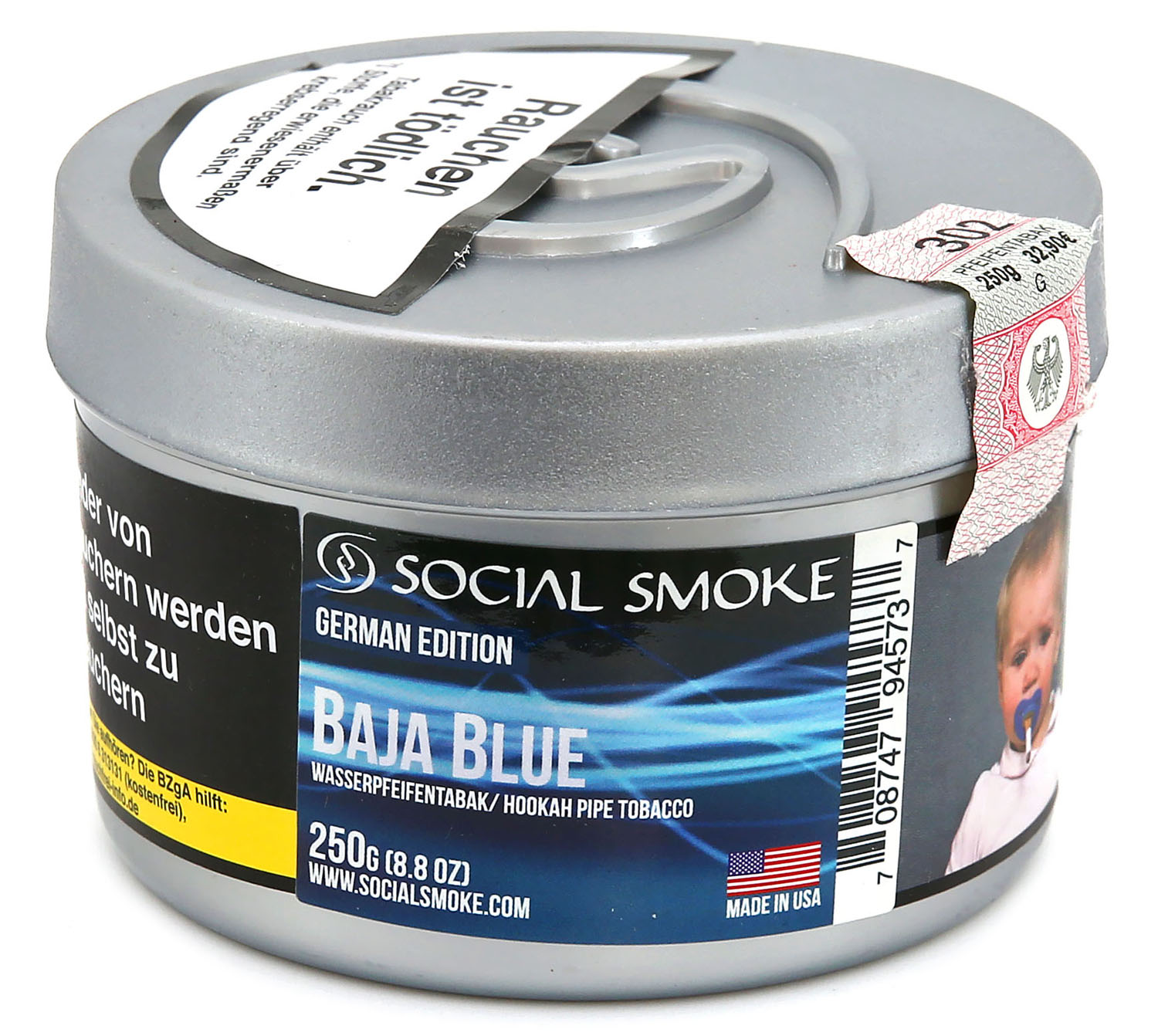 social smoke baja blue shisha tabak 250g social smoke 250g social smoke shisha tabak. Black Bedroom Furniture Sets. Home Design Ideas