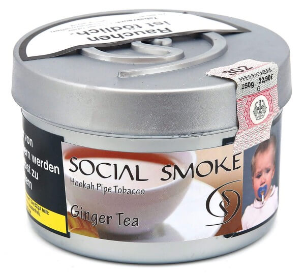 Social Smoke Ginger Tea Shisha Tabak 250g