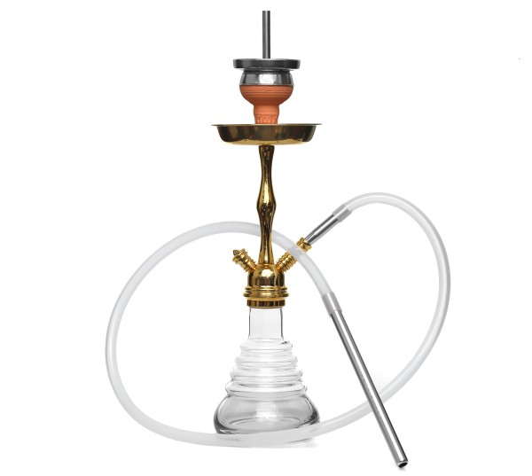Amy Stillness Shisha Gold Shaft Clear Klicksystem HS