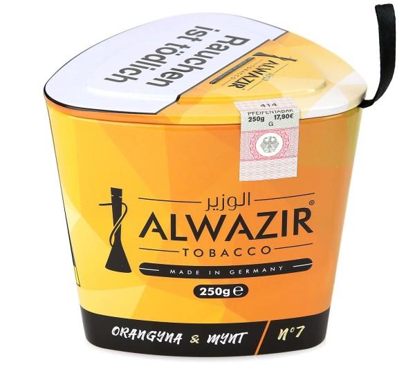 Alwazir No. 7 Orangyna & Mynt Shisha Tabak 250g
