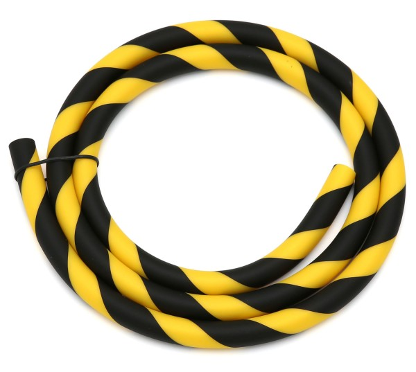 Silikonschlauch Striped Soft Touch Gelb-Schwarz