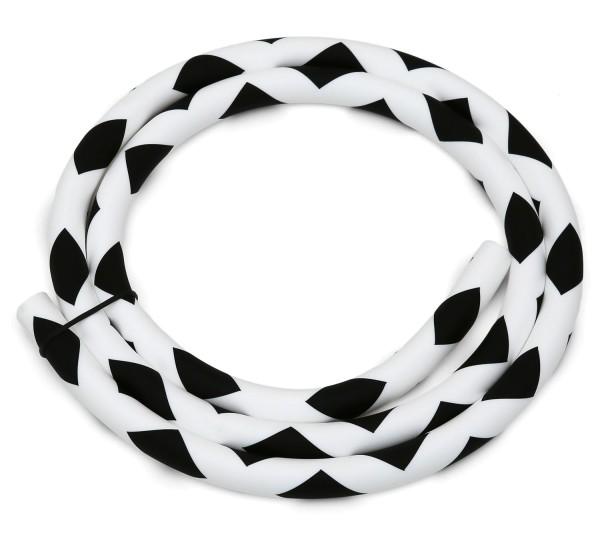 Silikonschlauch Square Soft Touch Weiß-Schwarz