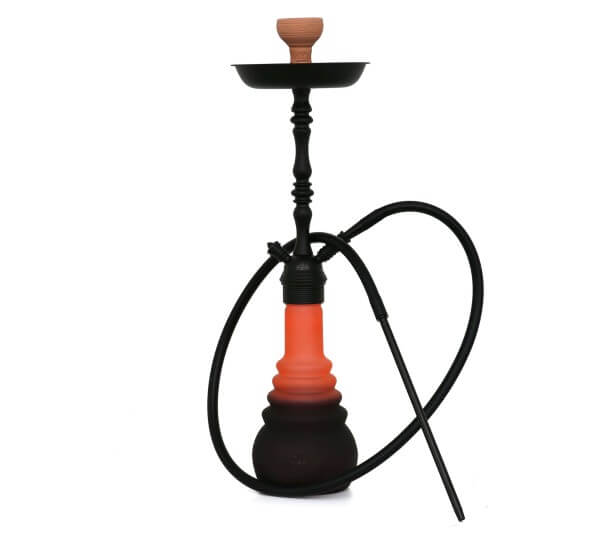4-Kings Shisha Arabic Matt Black Black Orange Klick