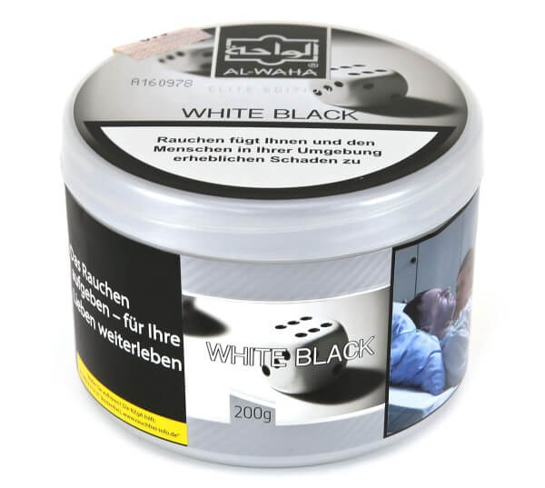Al Waha White Black Shisha Tabak 200g
