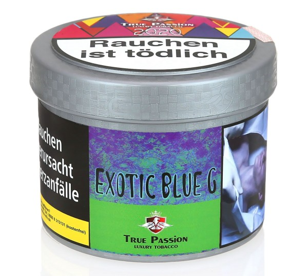True Passion Exotic Blue G Shisha Tabak 200g
