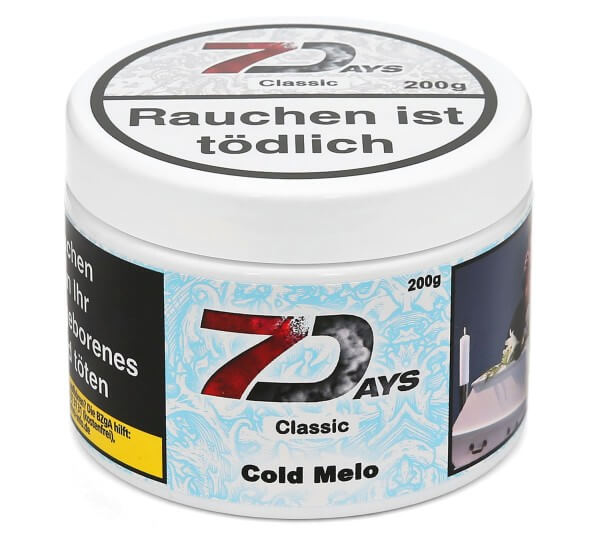 7Days Cold Melo Shisha Tabak 200g