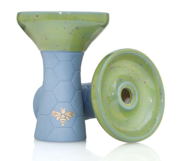 Bee Hookah Phunnel Blue - Half Glazed Green