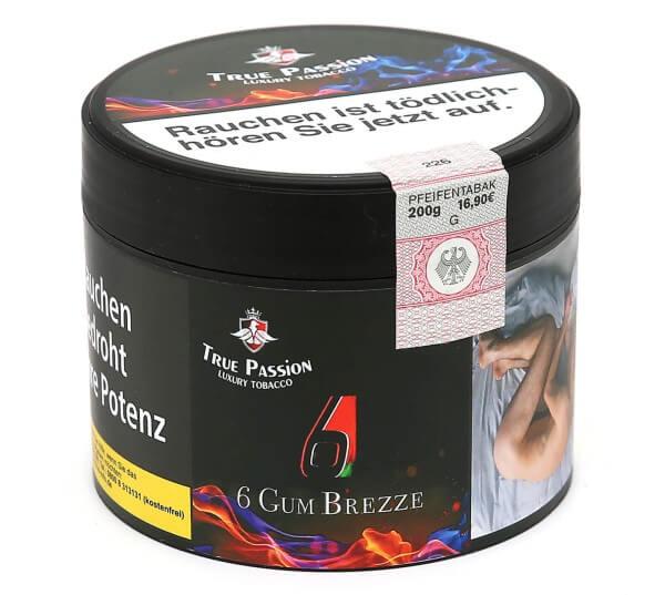 True Passion 6 Gum Breeze Shisha Tabak 200g