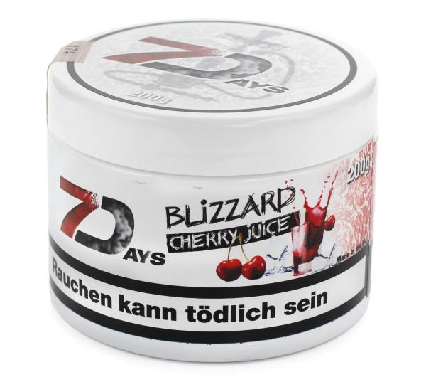 7Days Blizzard Cherr (Blizzard Cherry Juice) Shisha Tabak 200g