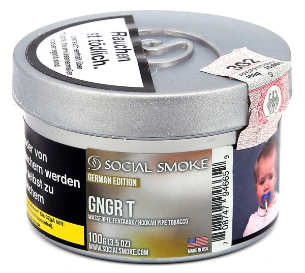 Social Smoke Gngr T Shisha Tabak 100g