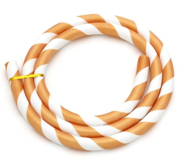 Silikonschlauch Striped Gold/Weiß