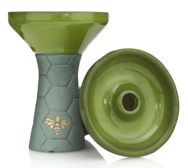Bee Hookah Phunnel Olive - Half Glazed Green