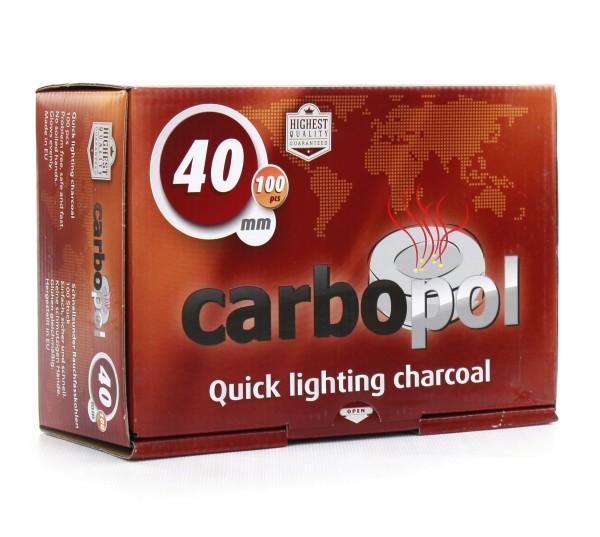 Carbopol Kohle selbstzündend - 40 mm 100 Stück