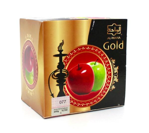 Al Waha Gold Doppelapfel Shisha Tabak 200g