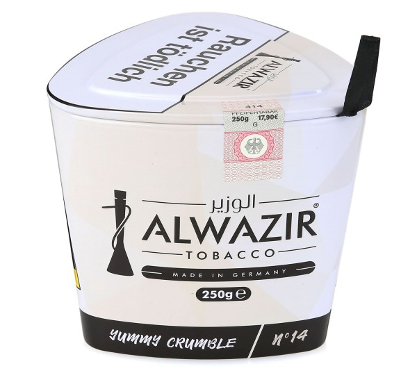 Alwazir No. 14 Yummy Crumble Shisha Tabak 250g