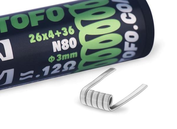 Wotofo Quad Core Fused Clapton Coils 0,12 Ohm (10 pieces)