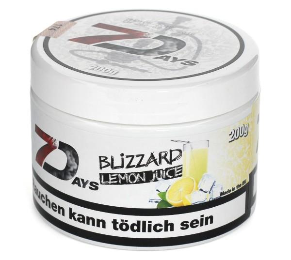 7Days Blizzard Lemo (Blizzard Lemon Juice) Shisha Tabak 200g