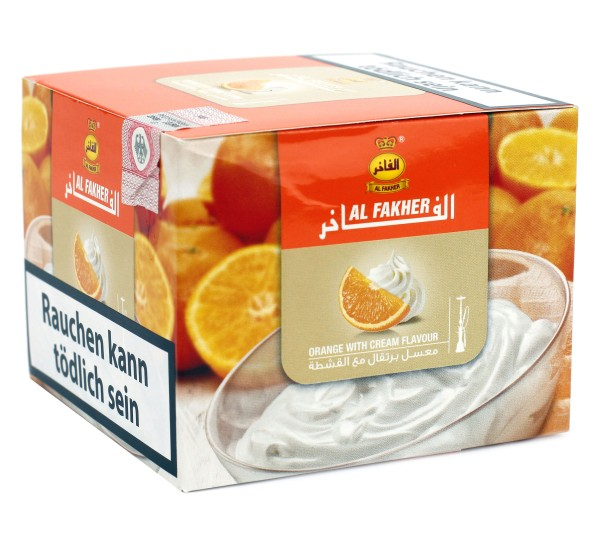 Al Fakher Orange White Cream Shisha Tabak 200g