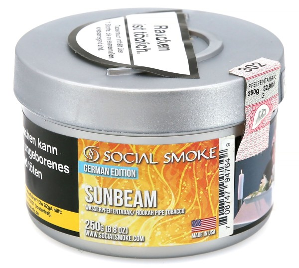 Social Smoke Sunbeam Shisha Tabak 250g