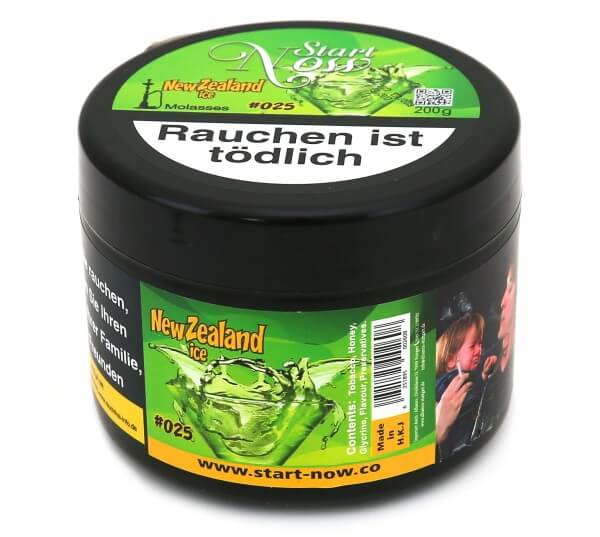 Start Now New Zealand Ice Shisha Tabak 200g