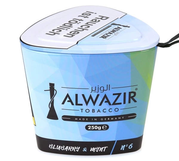 Alwazir No. 6 Blubarry & Mynt Shisha Tabak 250g