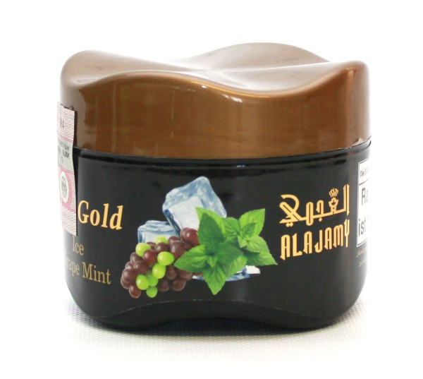Al Ajamy Gold Ice Traube Minze Shisha Tabak 200g