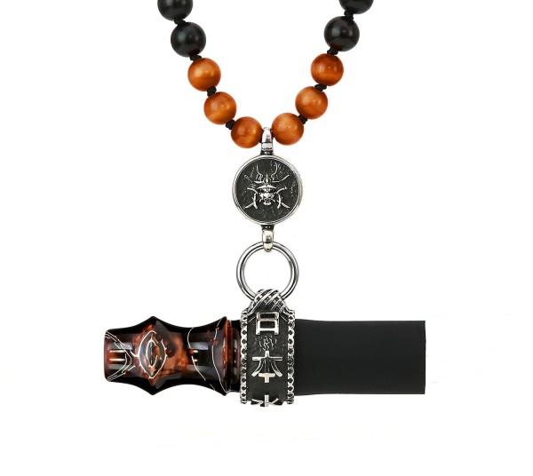 Japona Hookah Samurai Beads Mouth Tip Brown