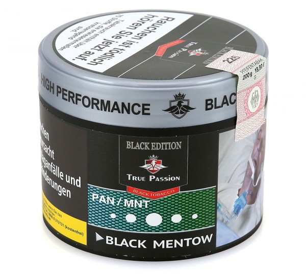 True Passion Black Edition Menthow Shisha Tabak 200g