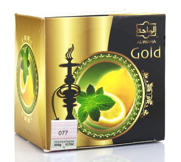Al Waha Gold Zitrone-Minze Shisha Tabak 200g