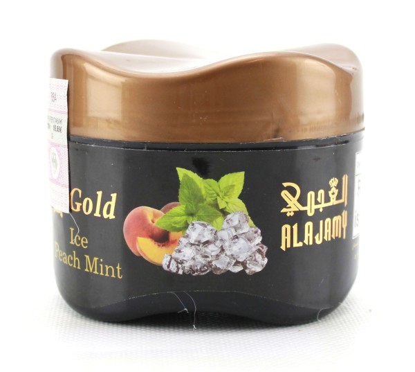 Al Ajamy Gold Ice Peach Mint Shisha Tabak 200g