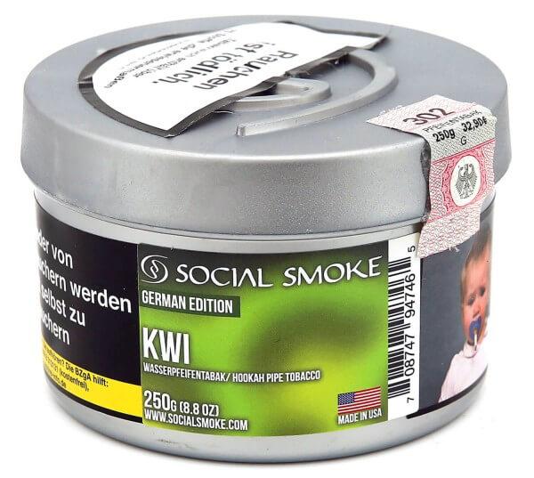 Social Smoke Kiwi Shisha Tabak 250g