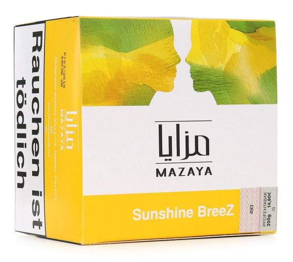 Mazaya Sunshine BreeZ Shisha Tabak 200g