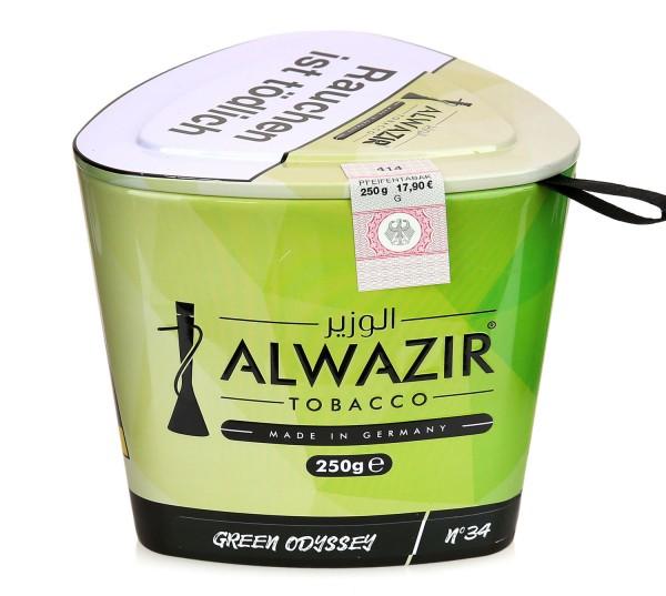 Alwazir No. 34 Green Odyssee Shisha Tabak 250g