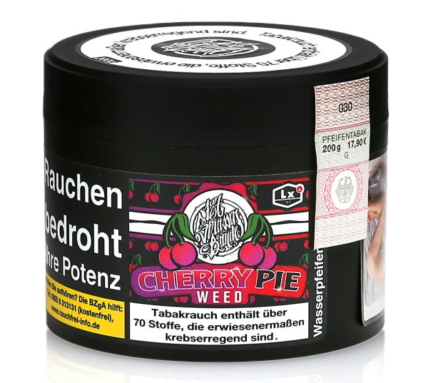 187 Straßenbande Cherry Pie Weed Shisha Tabak 200g